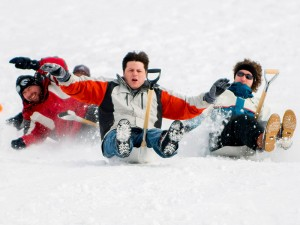 Snow Shovel Riding Championship