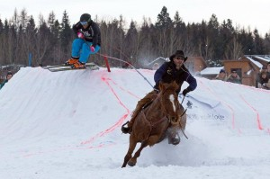 Skijoring competitions
