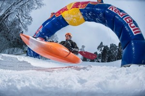 Red Bull Snow Kayaking competition
