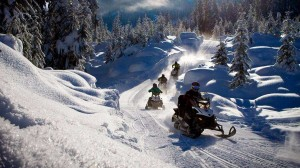 Snowmobiling race course