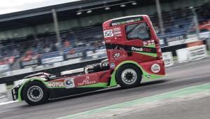 racing in truck