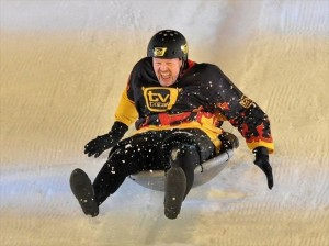 Wok racing athlete in action