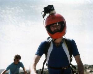 Mark Schulze wearing helmet cam