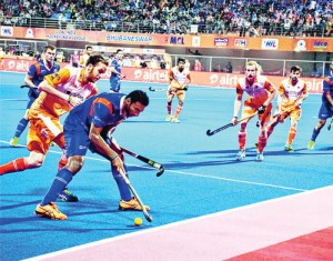 Players during the HIL match