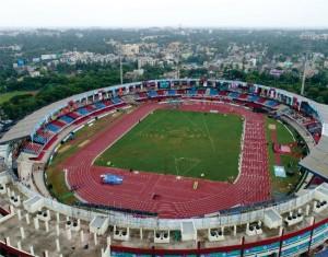 Aerial view of Kalinga Stadium