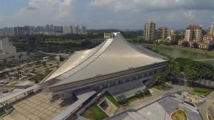 Stadium's side view