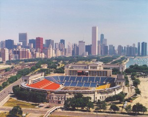 Aerial view of the stadium in 1988