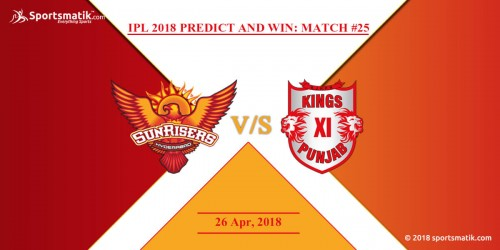 IPL 2018 Predict and Win: Match #25