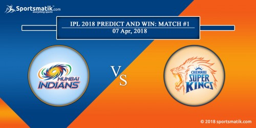 IPL 2018 Predict and Win: Match #1