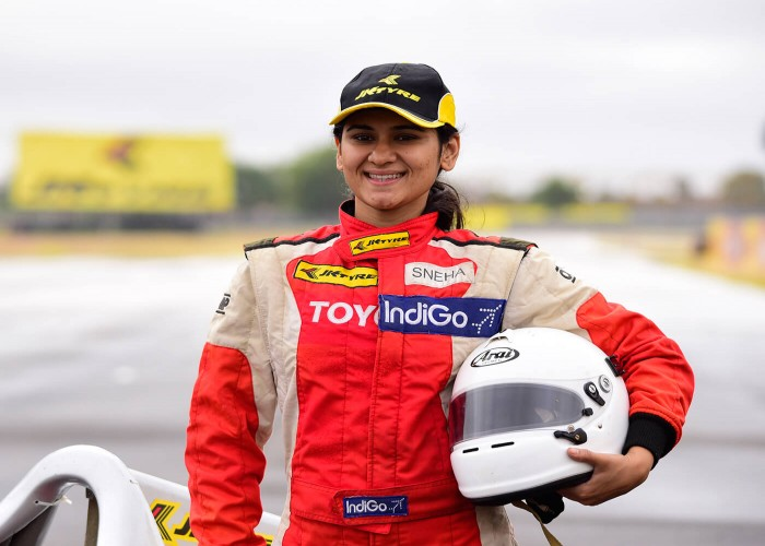 Sneha Sharma: Leading the race track and ruling the sky