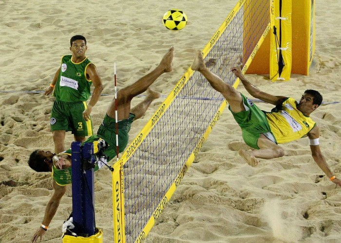 footvolley game